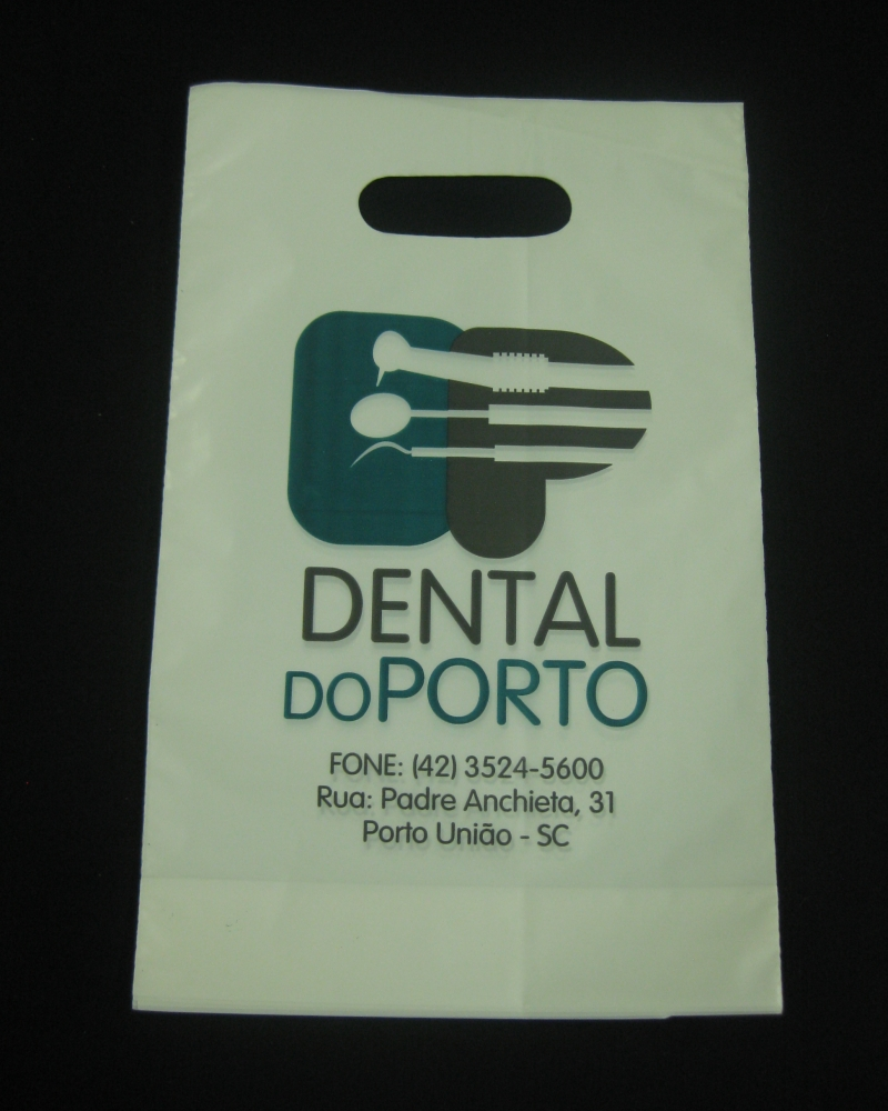 Sacolas Plásticas para Farmácias, Clínicas e Laboratórios Alça Boca Vazada