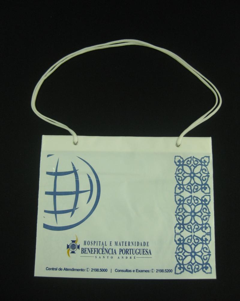 Sacolas Plásticas para Hospitais e Laboratórios Alça Cordão