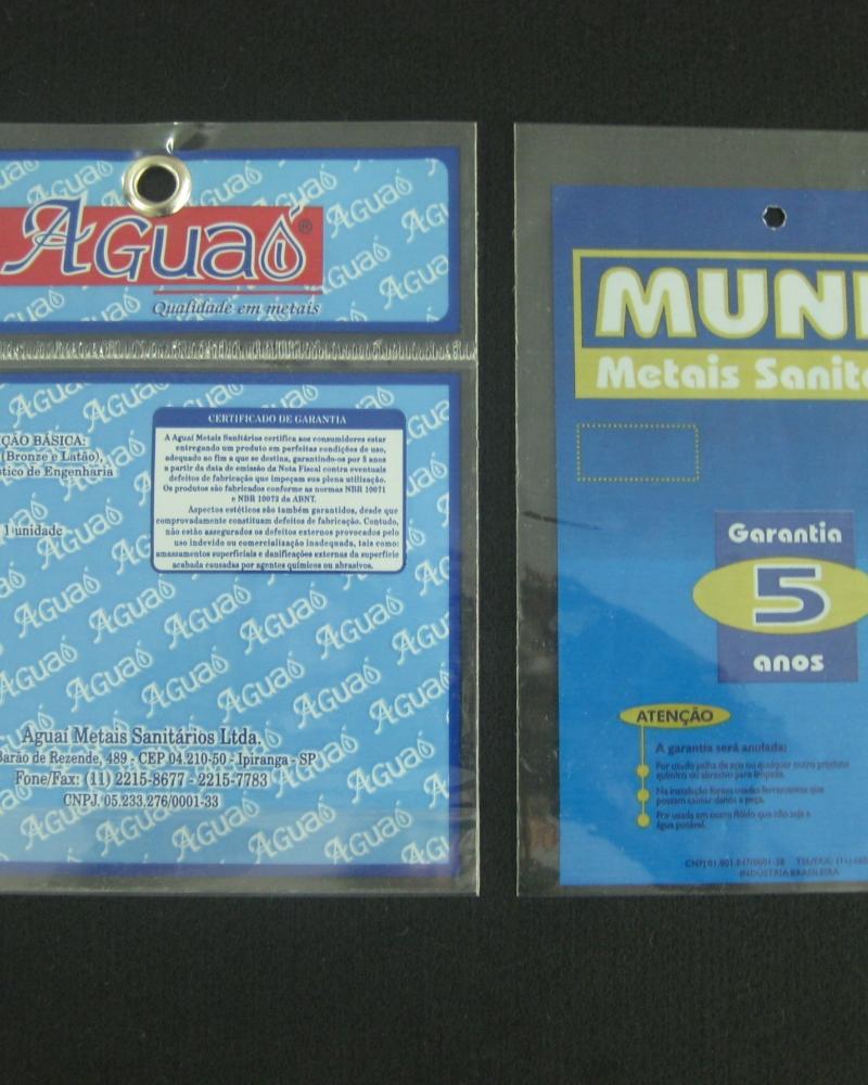 Sacos Plásticos para Metais Sanitários e Ferragens com Solapa, com Furo e Ilhós para Display com Aba e Fita ou Boca Reta