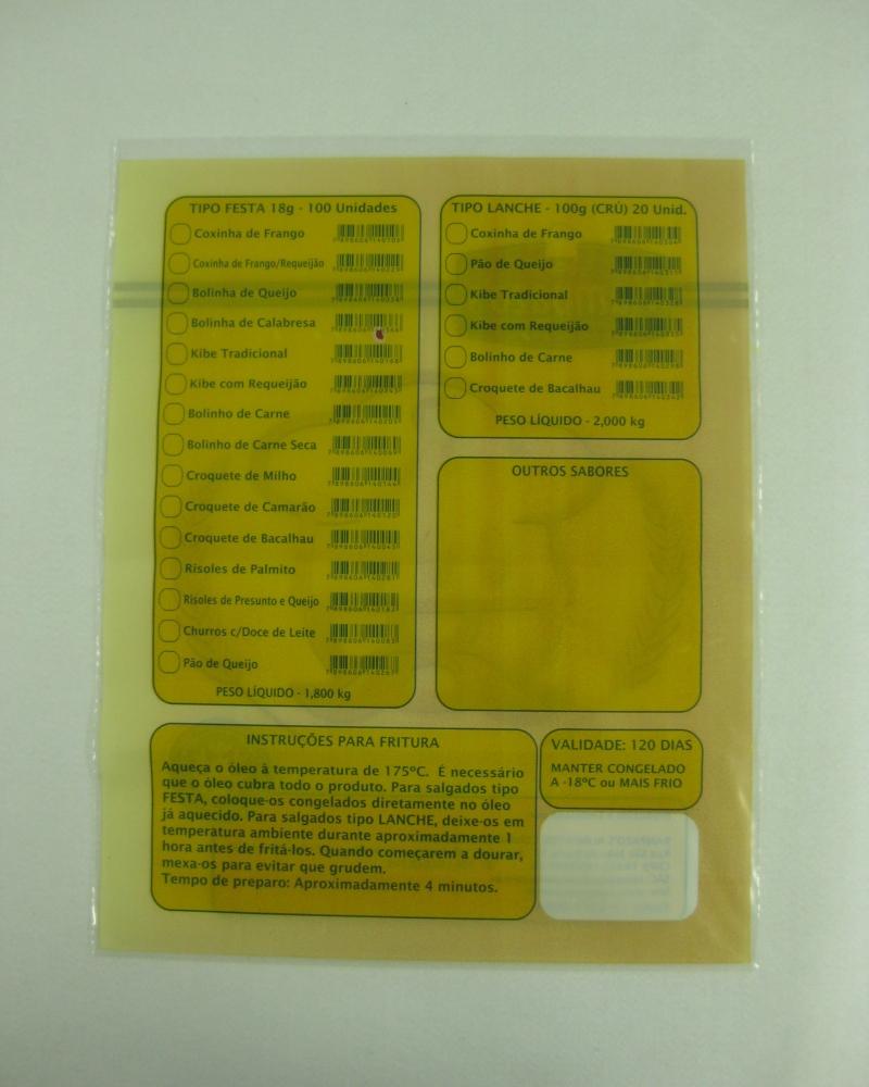 Sacos Plásticos para Salgados Congelados