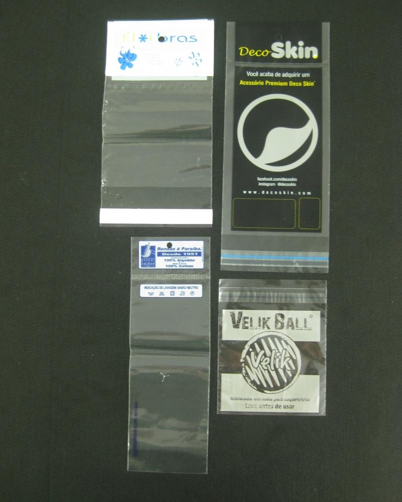 Sacos Plásticos com Solapa com Furo para Display para Produtos em Geral