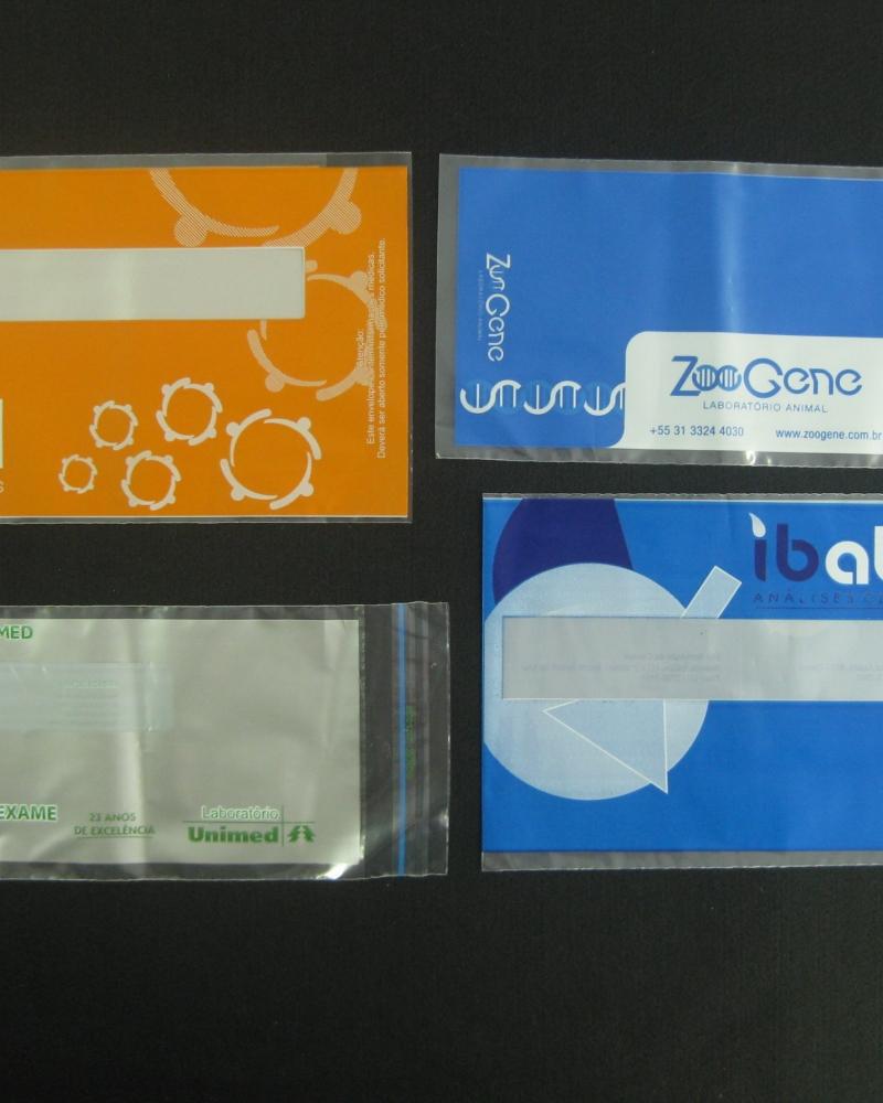 Envelopes Plásticos para Entrega de Exames de Diagnósticos