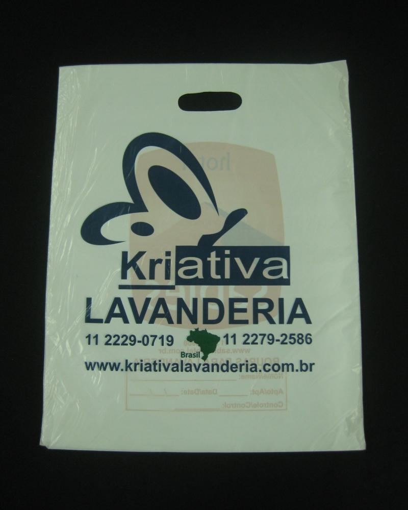 Sacolas Plásticas Para Coleta de Roupa Alça Boca Vazada