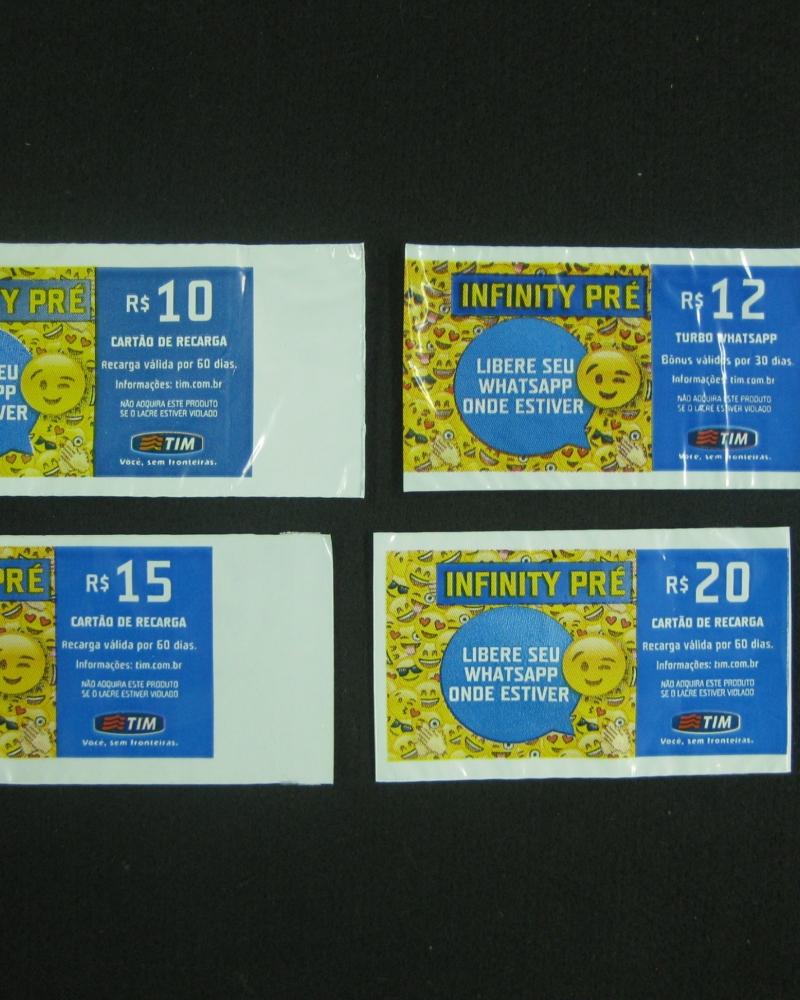 Envelopes Plásticos de Segurança para Cartão de Recarga de Celular