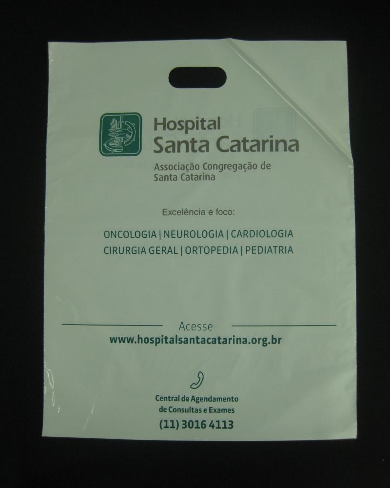 Sacolas Plásticas para Hospitais e Laboratórios Alça Boca Vazada