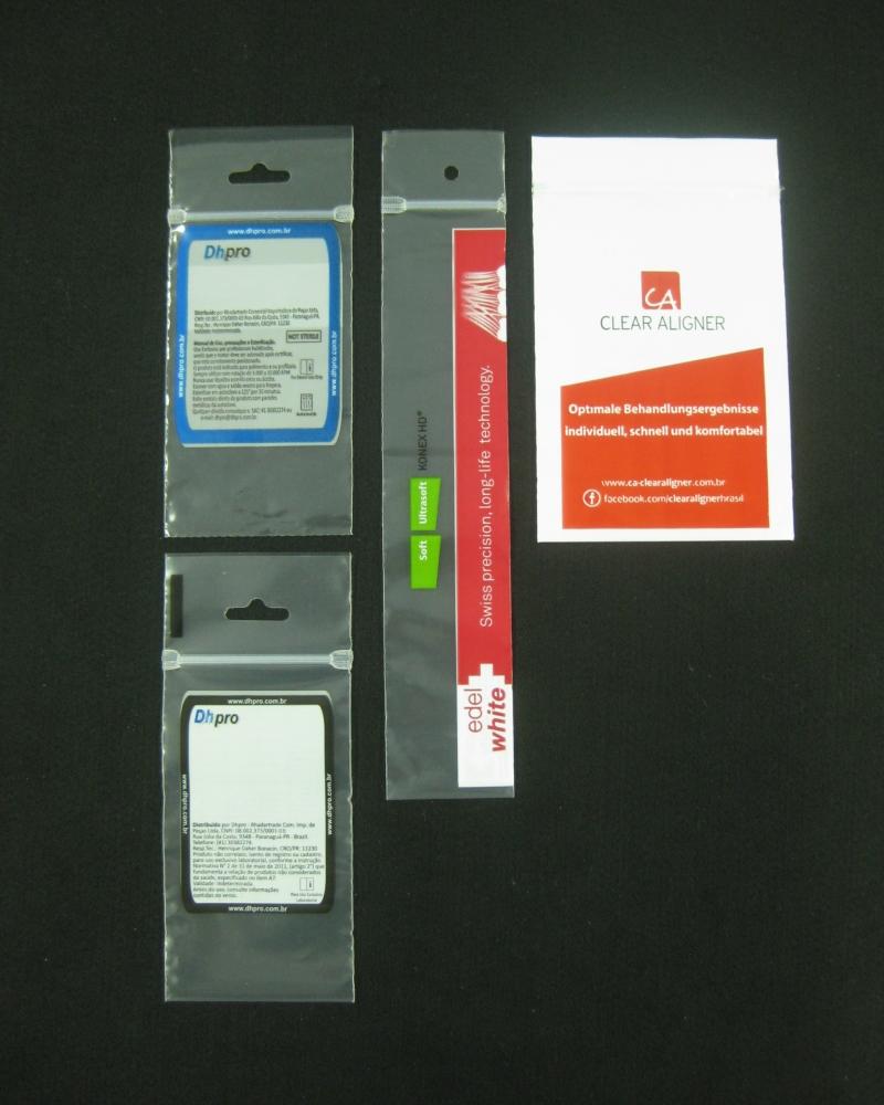 Sacos Plásticos com Fecho Zip para Produtos Odontológicos