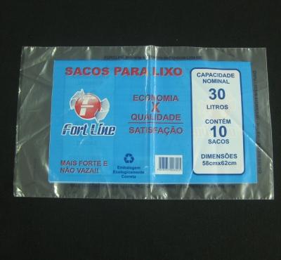 Sacos Plásticos para Embalagem de Sacos de Lixo