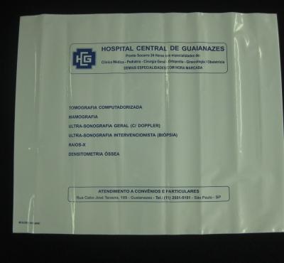 Envelopes Pl�sticos para Chapas de RX e Tomografia Tipo Fronha