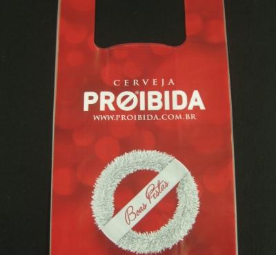 Sacolas Plásticas Alça Camiseta para Cervejarias
