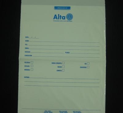 Envelopes Plásticos para Guarda de Objetos Pessoais com Aba Fita Inviolável