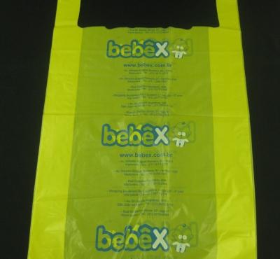 Sacolas Plásticas para Enxoval e Artigos de Bebês e Cama, Mesa, Banho Alça Camiseta P/M/G