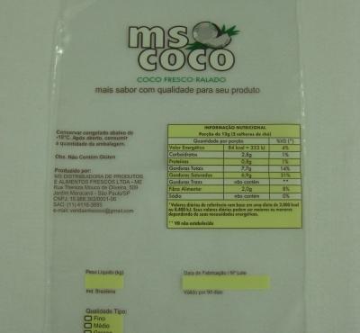 Sacos plásticos para Cocos Ralados Congelados