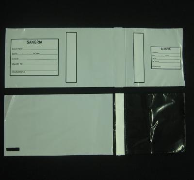Envelopes Plásticos de Segurança para Sangria de Caixas