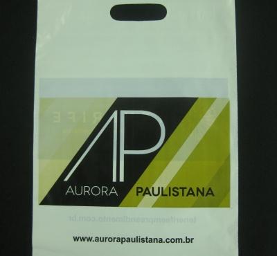 Sacolas Plásticas para Ações Promocionais de Construtoras, Incorporadoras e Imobiliárias Alça Boca Vazada