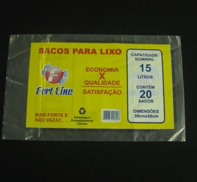 Sacos Pl�sticos para Embalagem de Sacos de Lixo