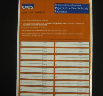 Envelopes Plásticos de Correspondência Interna com Fecho Trilho