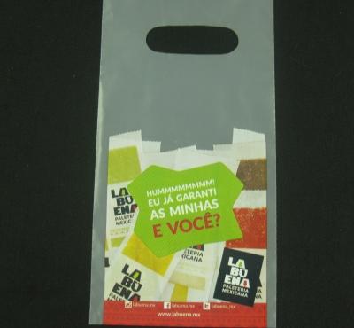 Sacolas Plásticas para Sorveterias e Paleterias Alça Boca Vazada