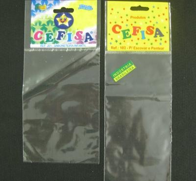 Sacos Plásticos para Artigos e Acessórios de Bebês, Com Solapa, Com Furo para Display Com Aba e Fita ou Boca Reta