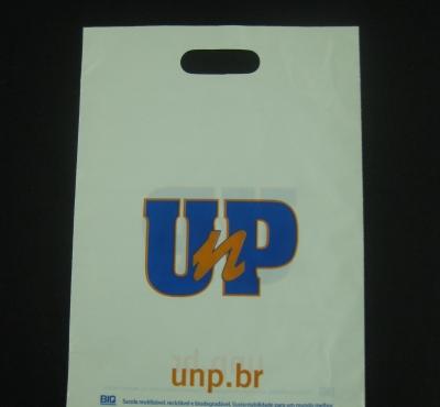 Sacolas Plásticas para Ações Promocionais de Universidades, Faculdades Alça Boca Vazada