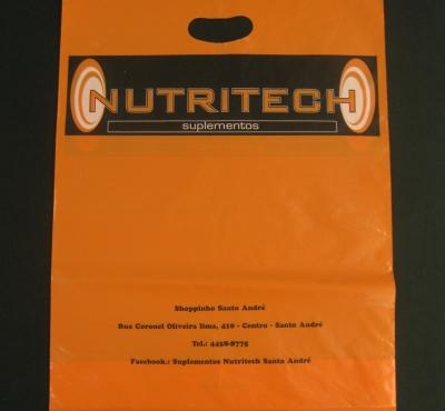 Sacolas Plásticas para Suplementos Nutricionais Alça Boca Vazada