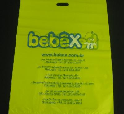 Sacolas Plásticas para Enxoval e Artigos de Bebês Alça Boca Vazada P/M/G
