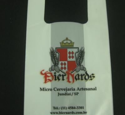 Sacolas Pl�sticas Al�a Camiseta para Cervejarias